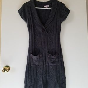 Finesse Sweater Dress Women's Medium Gray